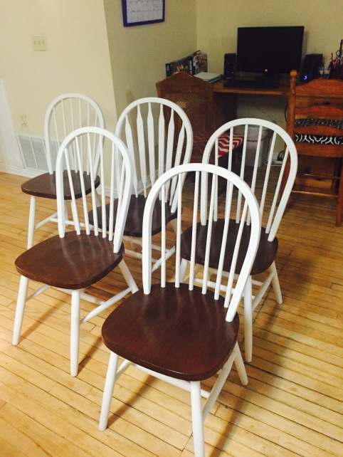 Here's the chairs once they were finished!